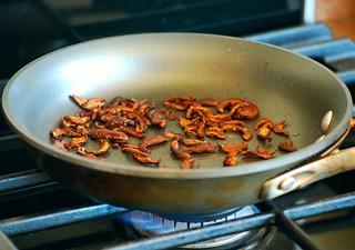 Pan Fried Shiitake Mushroom Bacon   by crd!
