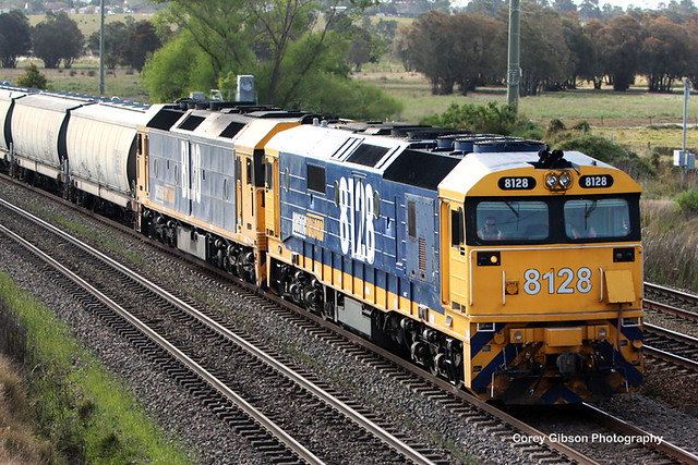 8128 & BL30 with a load of grain