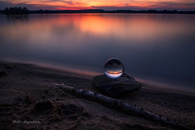 Crystalball in sunset...