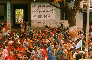 Protest against the Maheshwar Dam in the Narmada Valley | by International Rivers