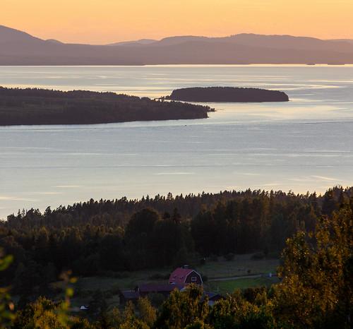 sunset lake landscape sweden farm sverige dalarna solnedgång siljan gård sjö siljansnäs plintsberg dalarnaslän hedgården
