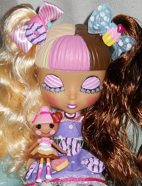 OOAK Cutie Pop, Nina Neopolitan and her Mini Lala, Scoops