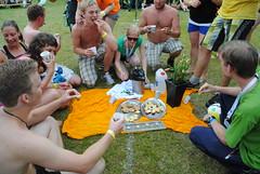 Piknik på volleyball-banen
