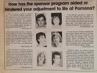 1984 Pomona Sponsor groups in the TSL