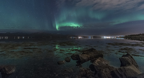 Aurora borealis, 9th of Oct. 2012 in Tromsø | by Per Ivar Somby