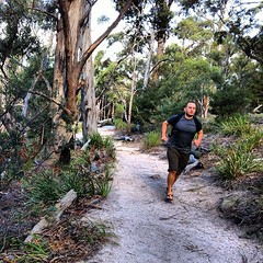 Trail running in Freycinet National Park, Tasmania. I've always felt the urge to run while hiking; now I know why. It was on this run that I realized my heart was calling me to be a distance trail runner.