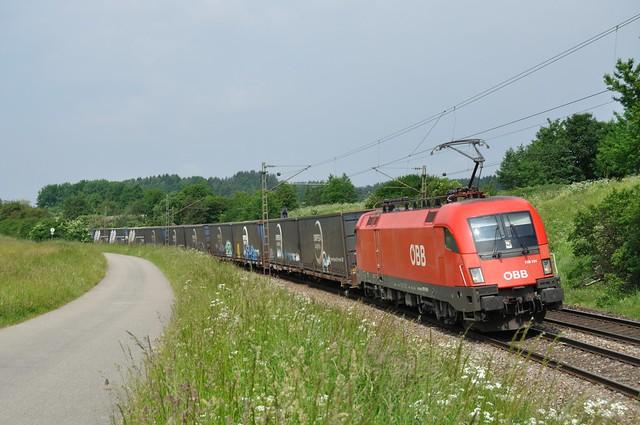 ÖBB 1116 191 met Omfesa containertrein, 30-05-2012
