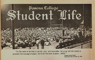 Photo of National Moratorium Day in 1969 The Student Life