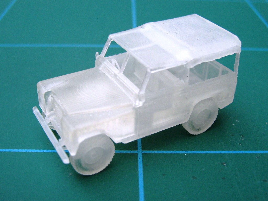 3D Print of Land Rover 1:87 Scale | A 1:87 scale model for 3