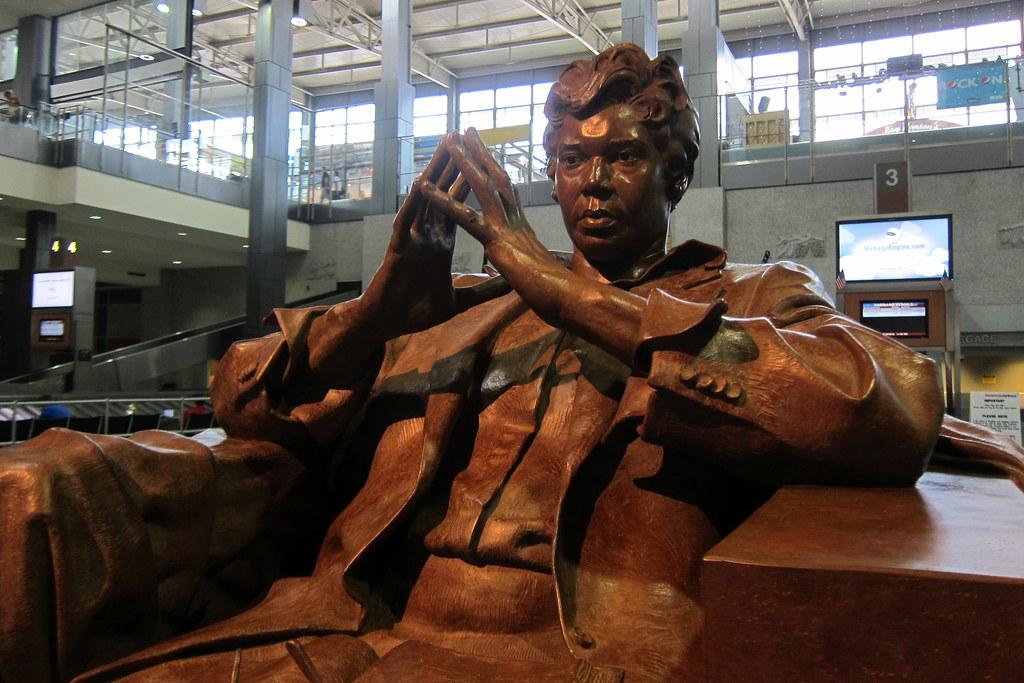 Image result for barbara jordan statue austin airport
