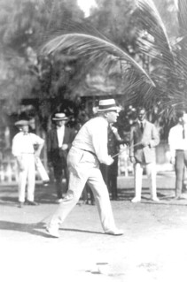 Warren G. Harding playing golf: Miami Beach, Florida