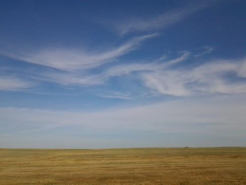 sky alberta prairies