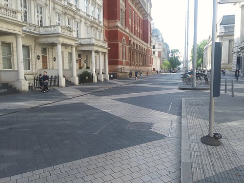 Exhibition Road urban design treatment, South Kensington, London