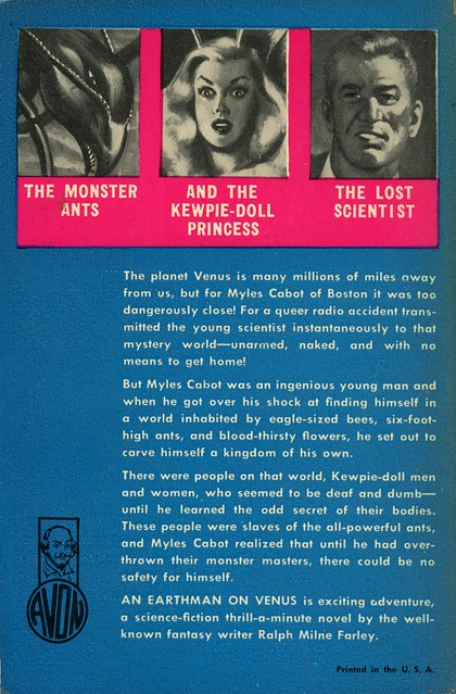Avon Books 286 - Ralph M. Farley - An Earth Man on Venus (back)