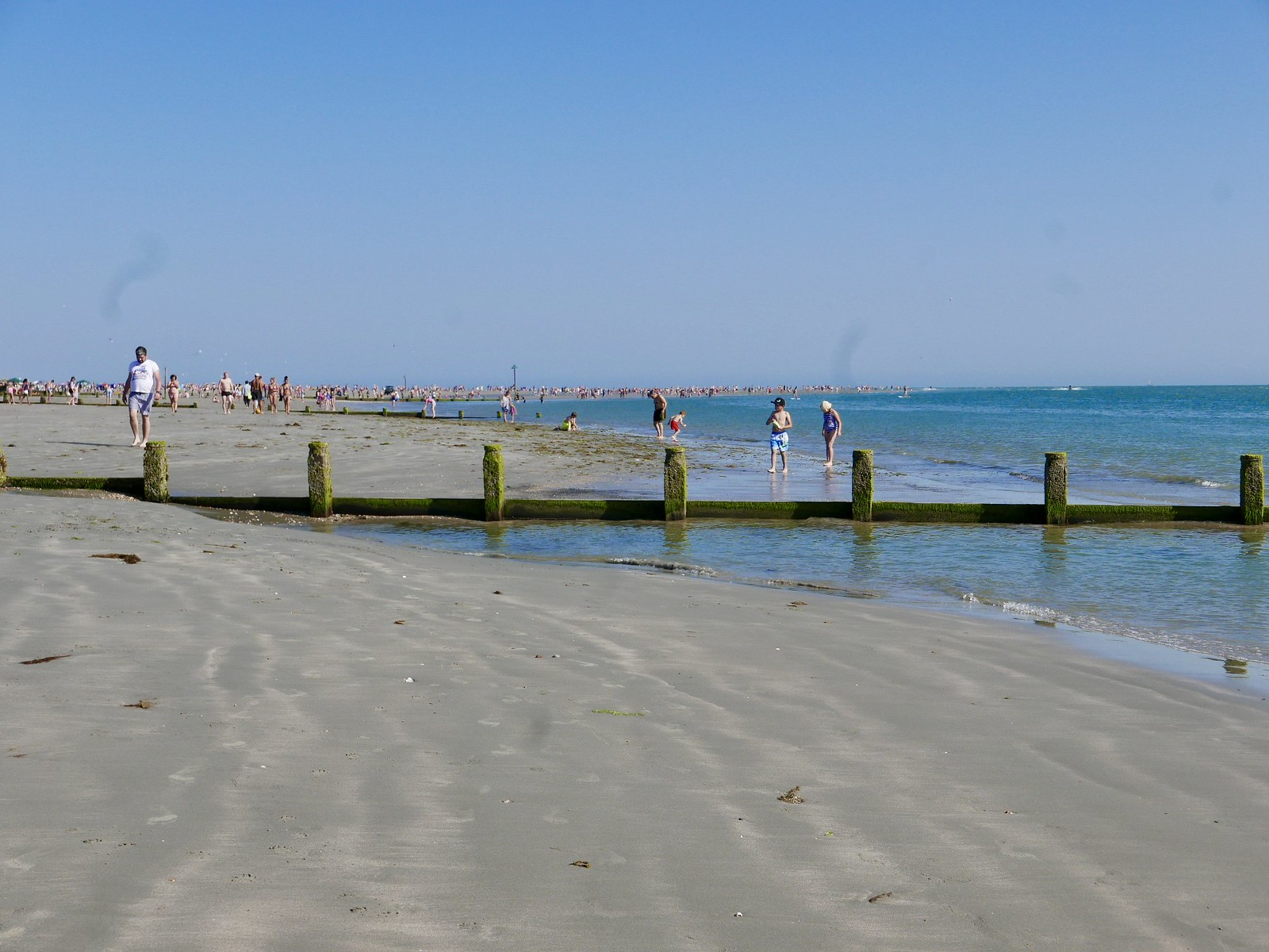 West Wittering beach scorching day on the beach