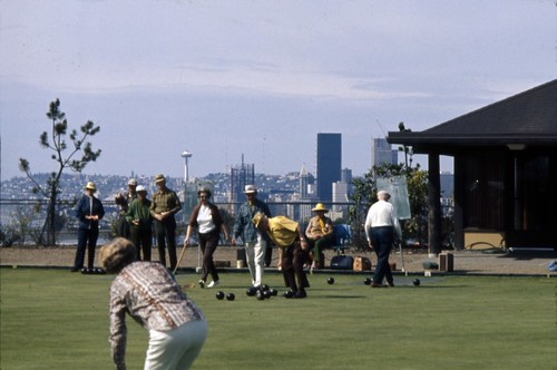 Lawn bowling at Jefferson Park, circa 1969