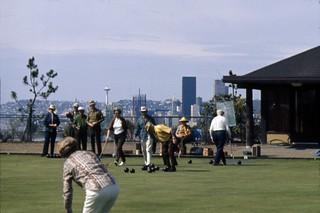 Lawn bowling at Jefferson Park, circa 1969
