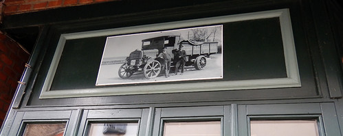In Haderslevld there are old photos on many of the historic buildings, this one is of an old delivery truck in Denmark