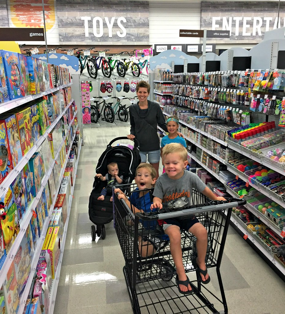 family grocery trip