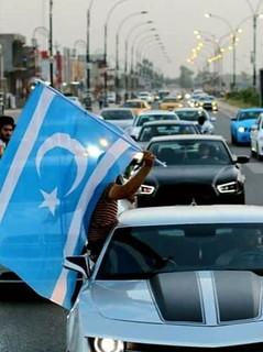 Iraqi Turkmen with flag