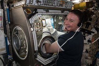 Flight Engineer Serena Auñón-Chancellor conducts research operations for the AngieX Cancer Therapy study | by NASA Johnson