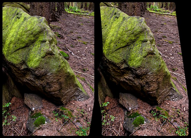 The banned troll 3-D / CrossEye / Stereoscopy / HDRaw