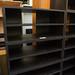 Ex Demo Dark Wood Laminate 4 high shelf unit E120