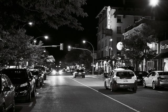 Victoria Street, downtown Kamloops BC Canada.