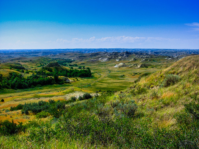 ND Dakota Badlands on a sunny day