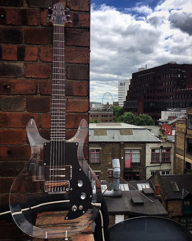 Anodised black custom pick guard has landed in London!! Al