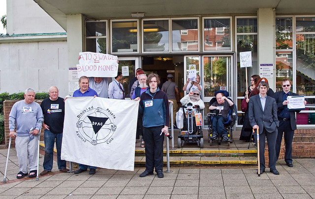Disabled People Against Cuts for The Atos Games Demo  Birmingham