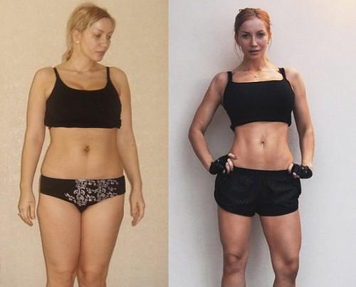 снаткина до похудения и после