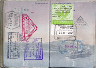 US Passport: Myanmar, Malaysia, Singapore, Indonesia, Indonesian Visa, US | by dcgreer