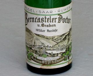 """Berncasteler Doctor 1958 - My First """"Doctor"""" Wine"""