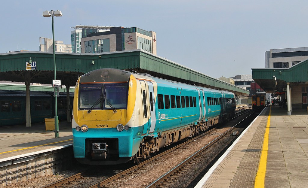 Arriva Trains Wales Unit 175113, Cardiff Central, 15th. September 2016 by Crewcastrian