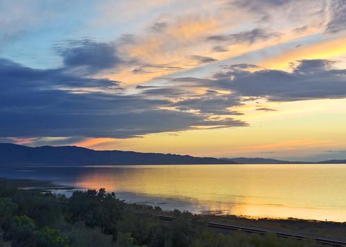 sunset reflection landscape evening utah scenery sunsets greatsaltlake 2012 nikond5100