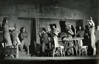 "1944 production of ""First in Spite of Hell,"" about nurses on Bataan"
