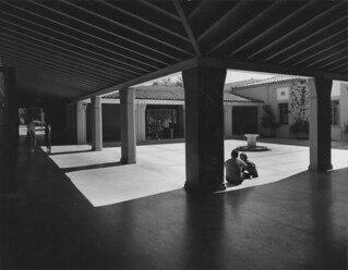 Edmunds Union courtyard in 1959