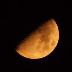 見上げたら上弦の月 by Noël Café