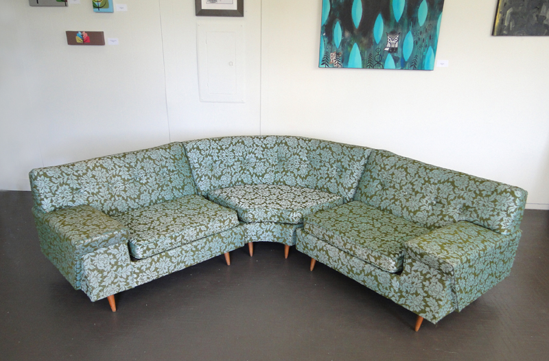 Pleasing Mid Century Sectional Sofa Kroehler Tapestry Couch Flickr Pabps2019 Chair Design Images Pabps2019Com
