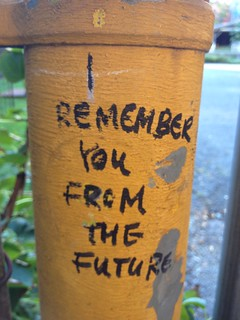Time traveler graffiti | by futureatlas.com