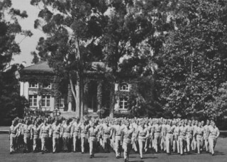 An Army Air Forces detachment of 225 enlisted men were part of a Pomona College training program for weather officers in 1943