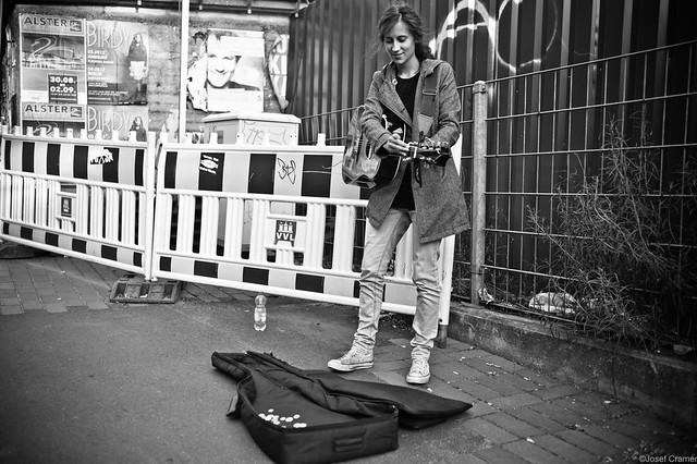 Musikerin Hafenstraße