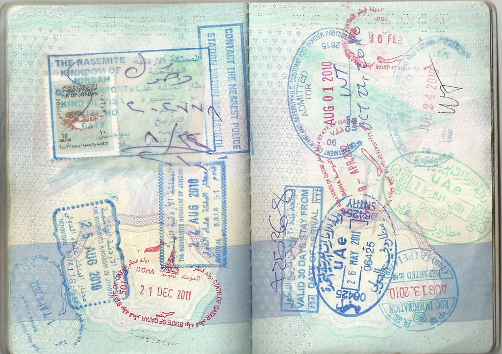 Passport Page with Stamps | Jordan visa, entry and exit stam… | Flickr