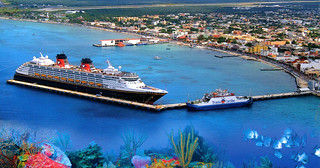 Cozumel Pier from Air (Postcard)