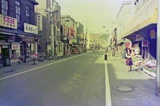 A main street in downtown  Otaru