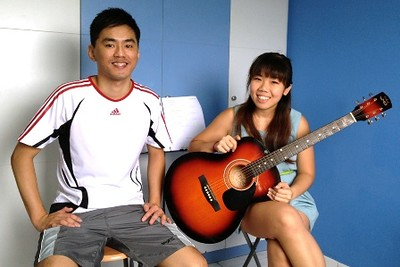 Adult guitar lessons Singapore Crystal