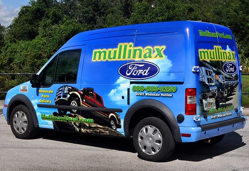 Ford Transit Connect vehicle wrap completed in Orlando