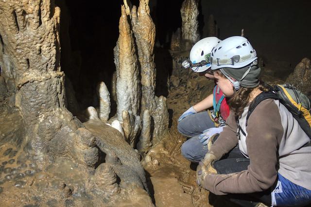 Stalagmites, Katie Ingram, Abby Harmon, Rusty's Cave, Dade Co, GA