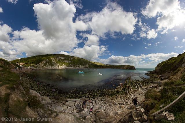 Lulworth Cove Fisheye Panorama